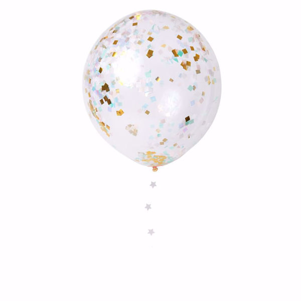 Picture of Latexballon Iridescent  Konfetti Set Kit 8 Stück DO IT YOURSELF