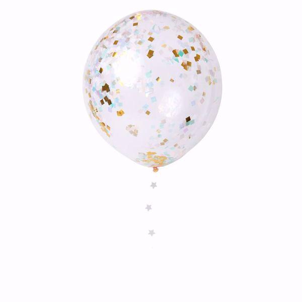 Bild von Latexballon Iridescent  Konfetti Set Kit 8 Stück