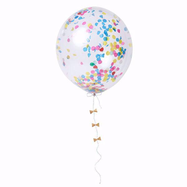 Bild von Latexballon Bunt Konfetti Set Kit 8 Stück