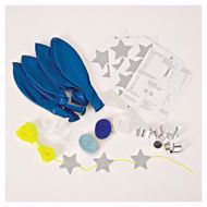 Picture of Latexballon Set Kit Blau Glitter Sterne 8 Stück