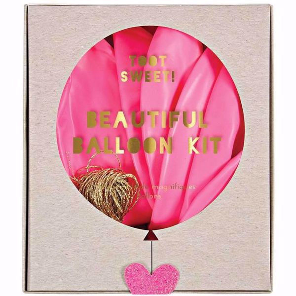 Picture of Latexballon Set Kit Pink Glitter Herz 8 Stück