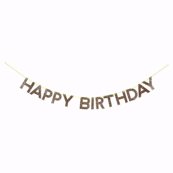 Picture of Girlande Happy Birthday Gold Garland