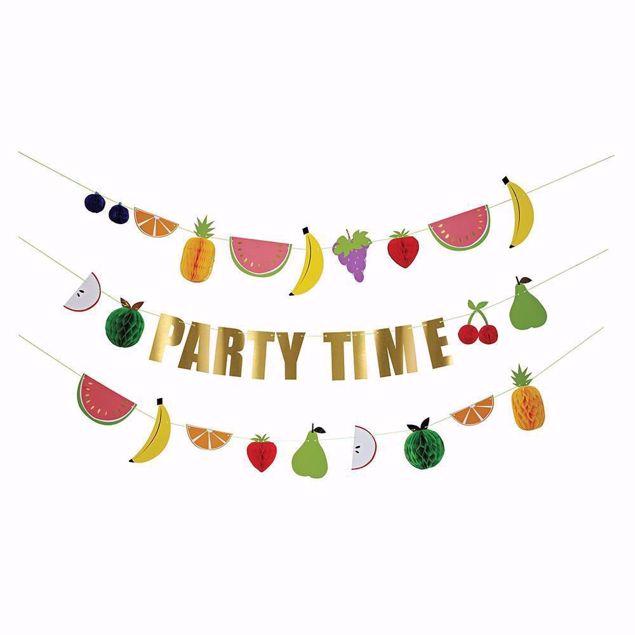 Bild von Girlande Frucht Bunt Party Time