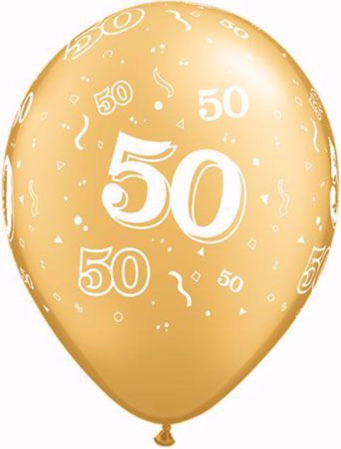 Picture of Latexballon 50 Geburtstag Goldene Hochzeit Gold 11 inch