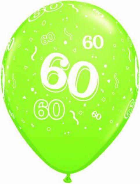 Picture of Latexballon 60 Geburtstag Fashion Lime Grün 11 Inch