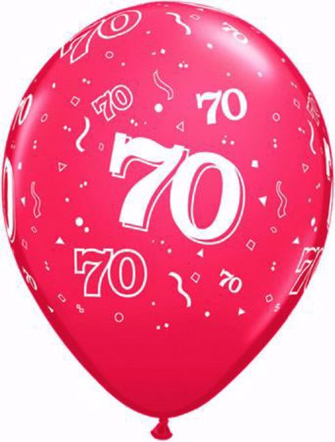 Picture of Latexballon 70 Geburtstag Ruby Rot 11 Inch