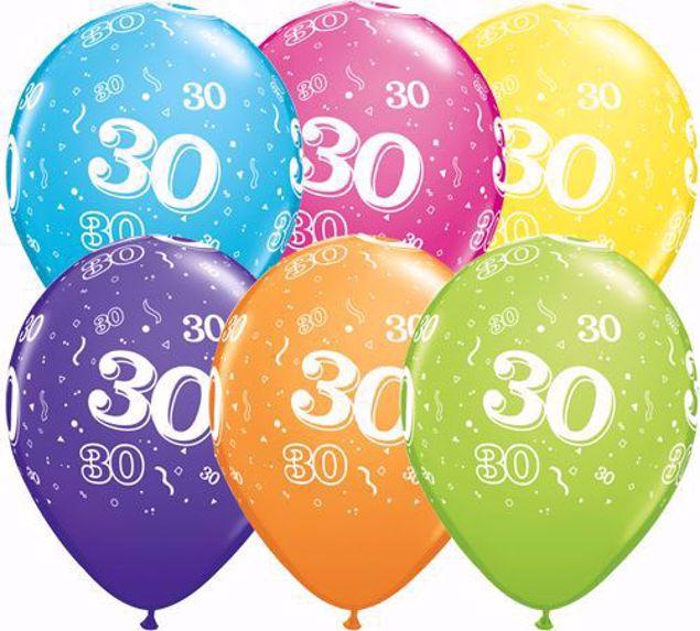 Bild von Latexballon 30 Bunt Geburtstag 11 inch