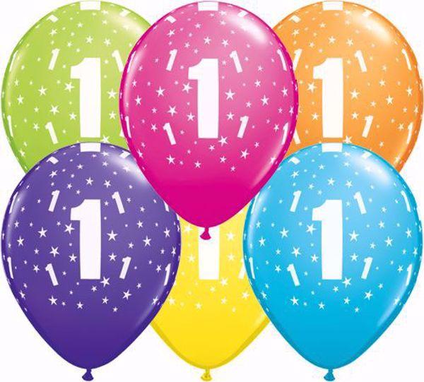 Bild von Latexballon 1 Bunt Geburtstag 11 inch