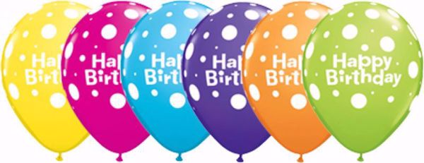 Picture of Latexballon Happy Birthday Bunt Geburtstag 11 inch