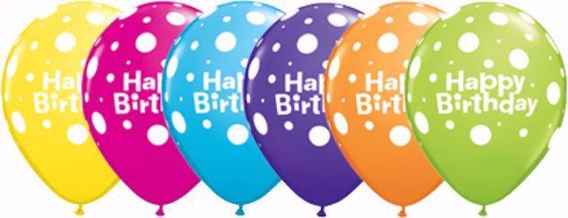 Bild von Latexballon Happy Birthday Bunt Geburtstag 11 inch