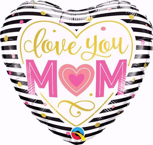 Bild von Folienballon 'Love You Mom'