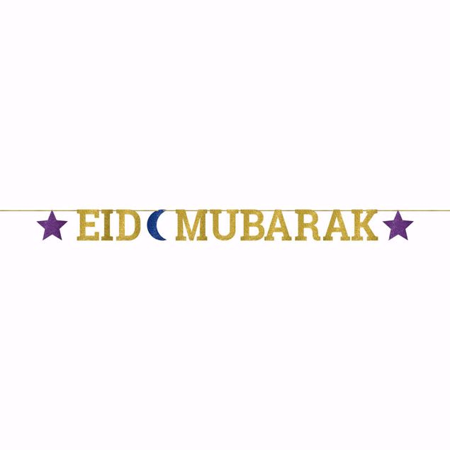 Picture of Girlande Eid Mubarak Ramadan Gold Blau Oriental