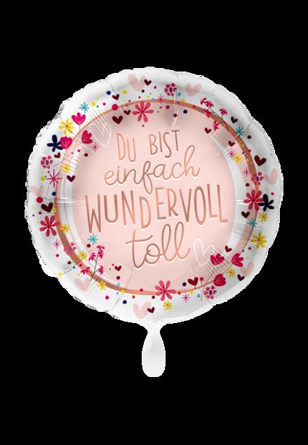 Bild von Du bist einfach wundervoll Folienballon 45 cm rund