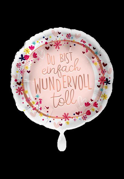 Bild von Du bist einfach wundervoll Folienballon 70 cm rund -