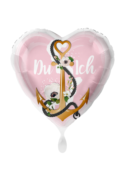 """Bild von Folienballon """"Du & Ich"""" Anker Liebe Herz"""
