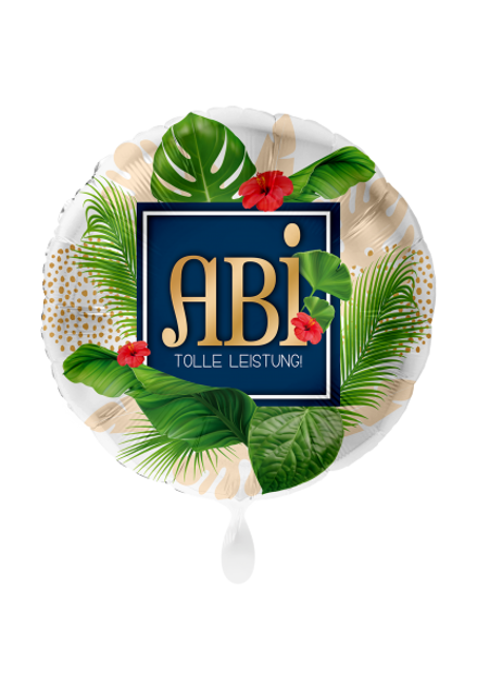 Picture of Abitur ABI Karibik Folienballon 45 cm