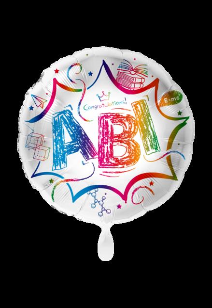 Picture of Abitur ABI Bunt Folienballon rund 70 cm