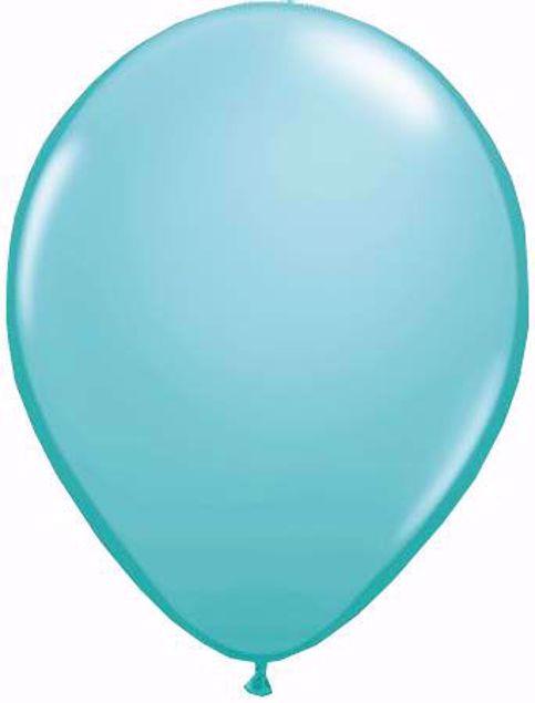 Bild von Latexballon rund Qualatex Fashion Caribbean blau11 inch