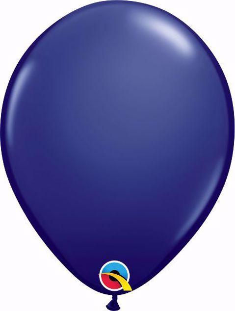 Bild von Latexballon rund Fashion Dunkelblau Qualatex 11 inch
