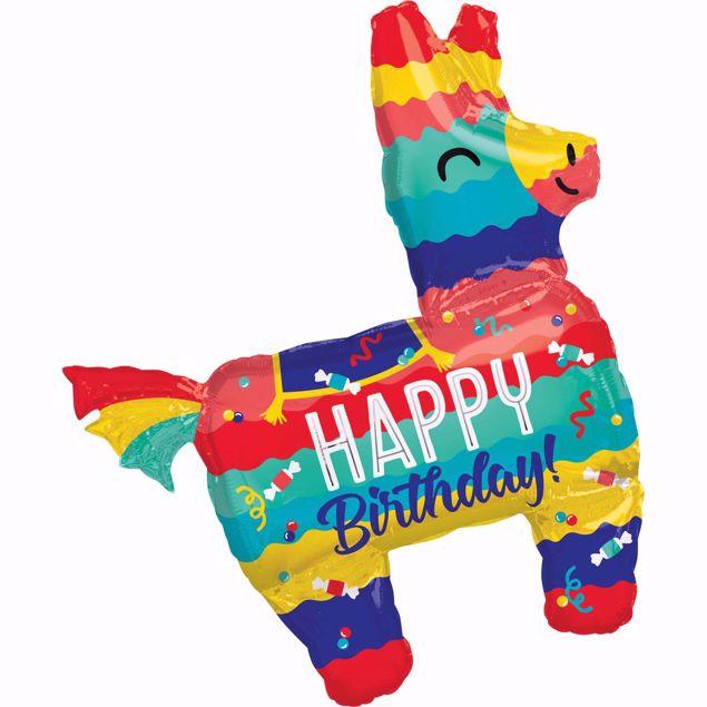 Picture of Folienballon Lama Happy Birthday