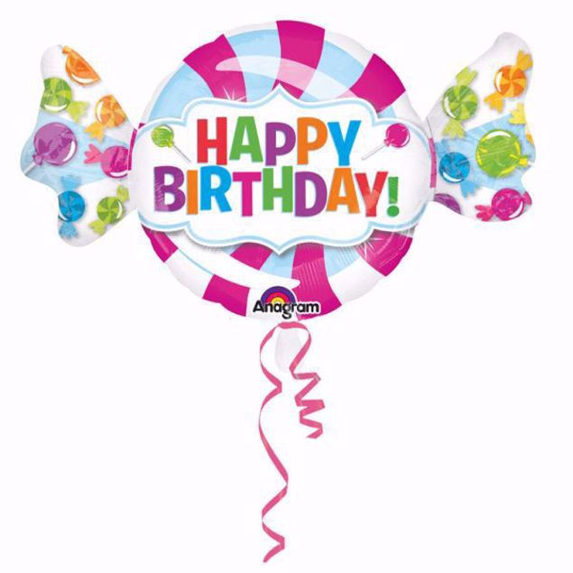 Bild von Folienballon Riesenbonbon Happy Birthday