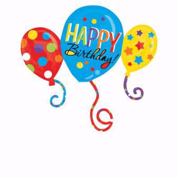 Picture of Folienballon Supershape Happy Birthday Ballons