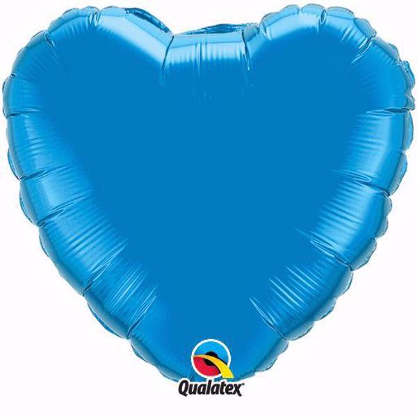 Picture of Folienballon Herz Saphire Blau