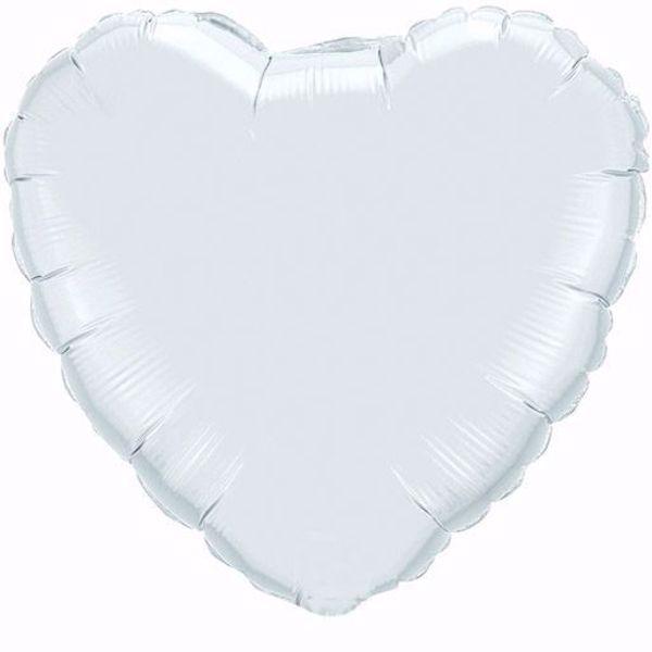 Picture of Folienballon Herz weiß