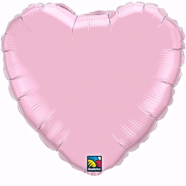 Bild von Folienballon Herz Pearl Pink