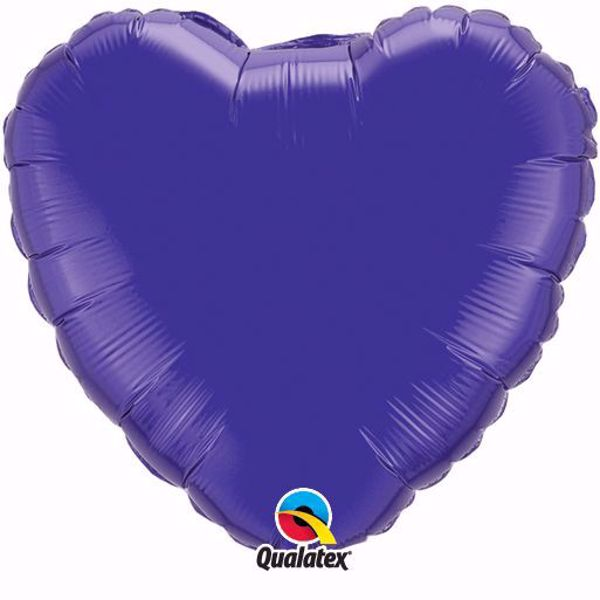 Picture of Folienballon Herz Quartz Purple