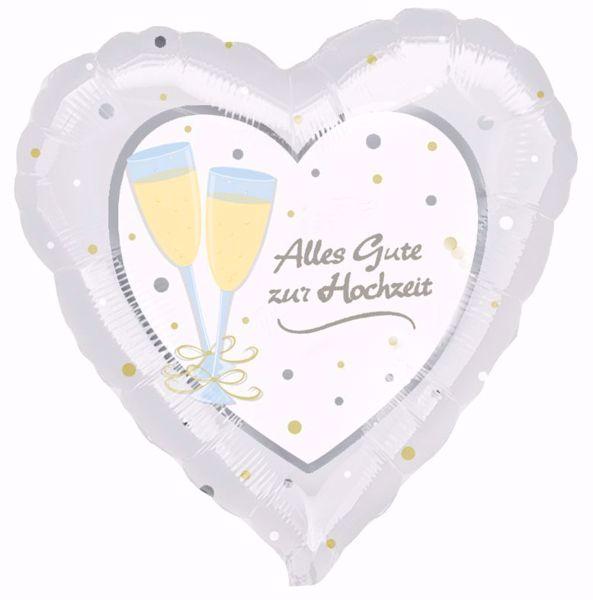"""Picture of Folienballon Hochzeit """"Alles Gute zur Hochzeit"""""""