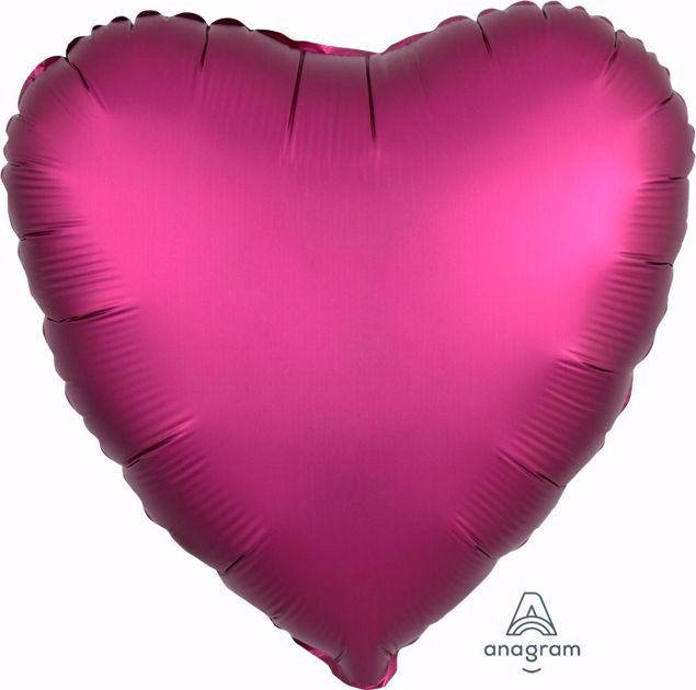 Bild von Folienballon Heart Satin Luxe Pomegrate 17 inch