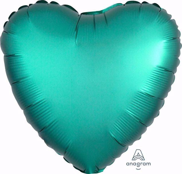 Bild von Folienballon Heart Satin Luxe Jade 17 inch