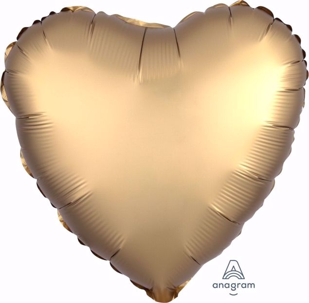 Bild von Folienballon Heart Satin Luxe Gold Sateen 17 inch