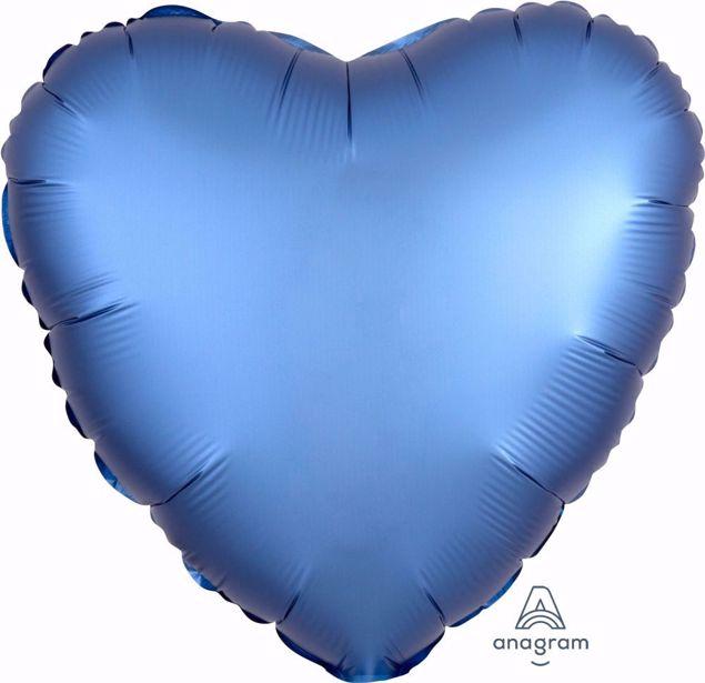 Bild von Folienballon Heart Satin Luxe Azure 17 inch