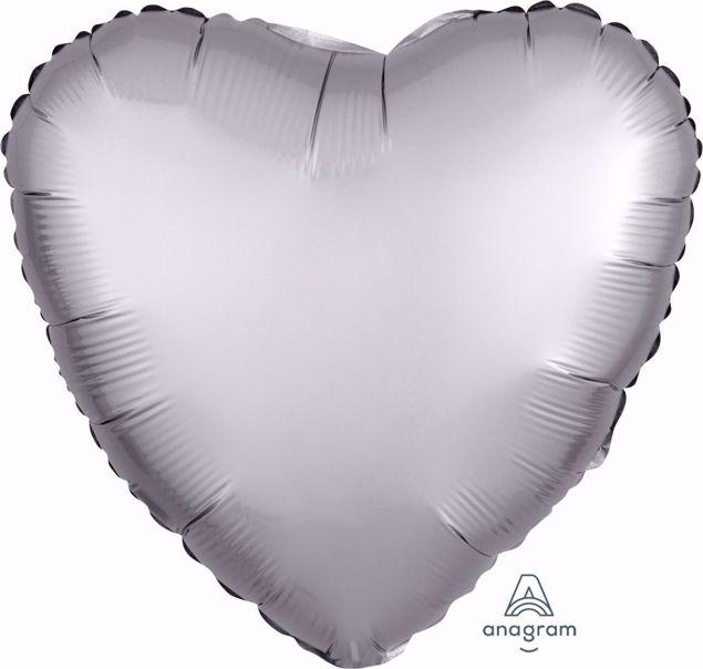 Bild von Folienballon Heart Satin Luxe Platinum 17 inch