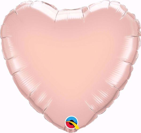 Bild von Folienballon Herz Qualatex 36 inch Pearl Rose