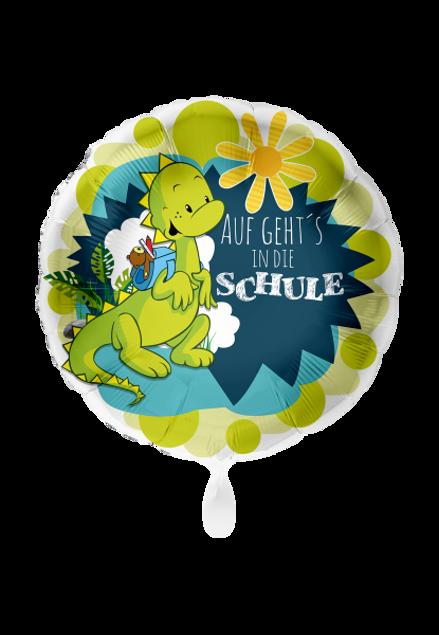 Picture of Folienballon Schulanfang  Dinosaurier 45cm