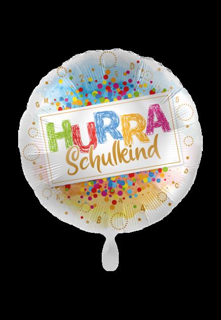 Picture of Folienballon Schulanfang 'Hurra Schulkind' 45cm