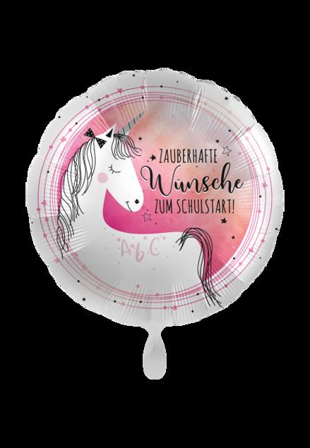 Picture of Folienballon Schulanfang Einhorn 45cm