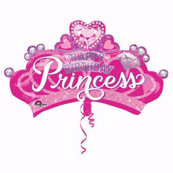 Picture of Folienballon Supershape Krone Happy Birthday Princess