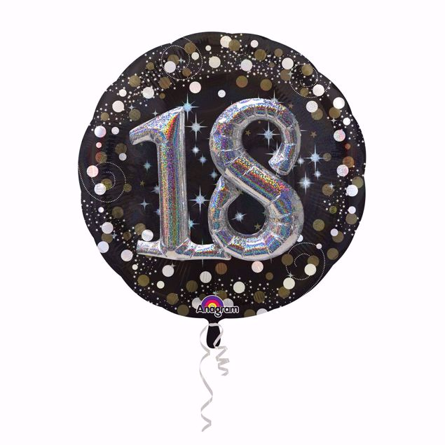 Picture of Folienballon Multi-Balloon Sparkling Birthday 18