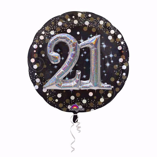 Picture of Folienballon Multi-Balloon Sparkling Birthday 21