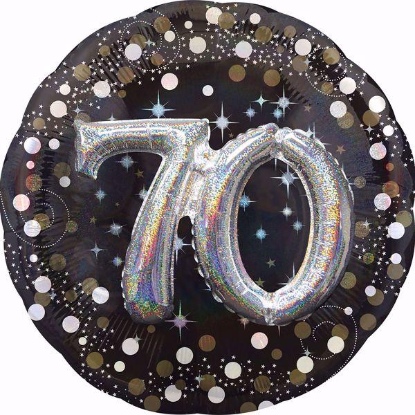 Bild von Folienballon Multi-Balloon Sparkling Birthday 70