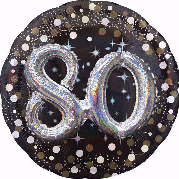 Picture of Folienballon Multi-Balloon Sparkling Birthday 80