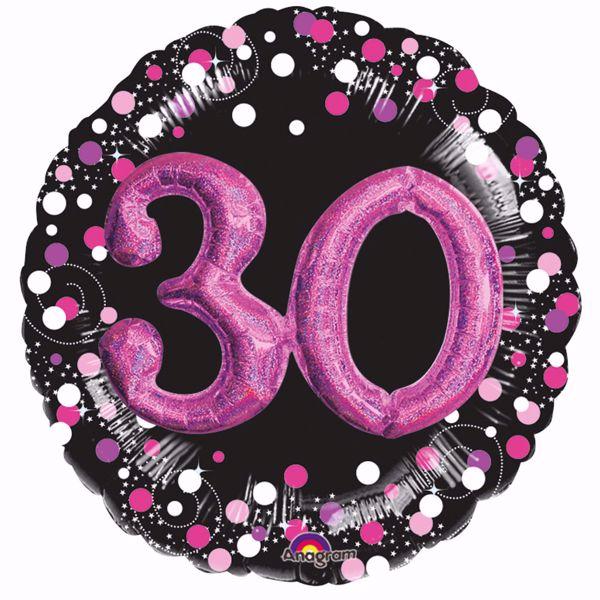 Picture of Folienballon Multi-Balloon Sparkling Pink 30