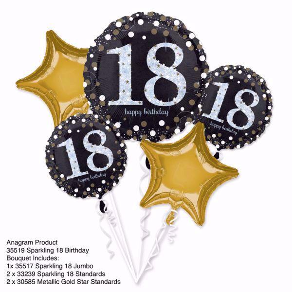 Bild von Bouquet Set Folienballon Geburtstag 18