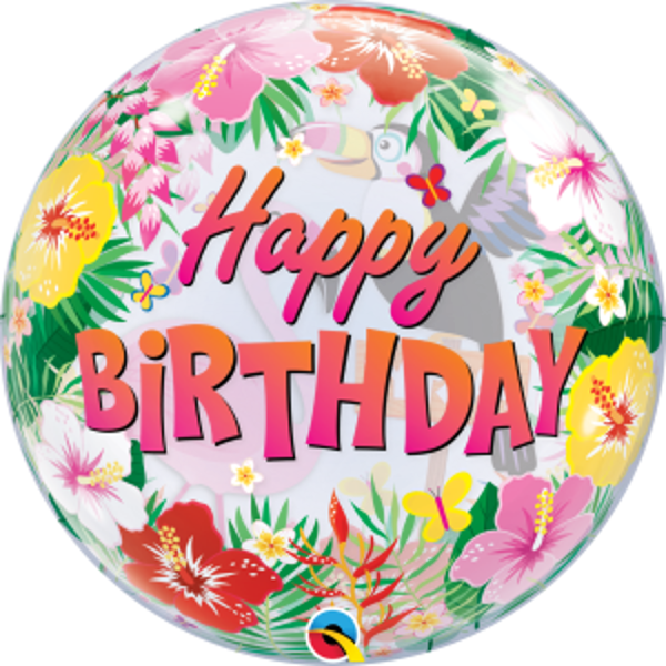 "Picture of 22"" SINGLE BUBBLE TROPICAL BIRTHDAY PARTY"