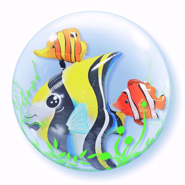 """Picture of 24"""" DOUBLE BUBBLE SEAWEED TROPICAL FISH"""