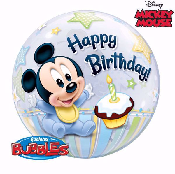 """Picture of 22"""" SINGLE BUBBLE MICKEY MOUSE 1ST"""